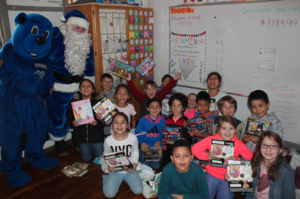 Blue Santa brings cheer to NSE
