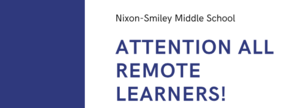 Middle School Remote Learners
