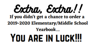 Elementary & Middle School Yearbooks 19-20