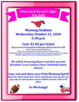 Pink Out & Parent's Night Pep Rally