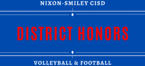 District Honors Volleyball & Football