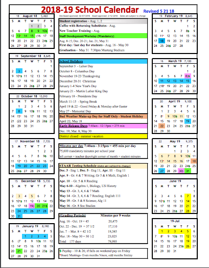 Judson Isd Calendar 2019 School Year Calendars for 2018 2019 | WOAI